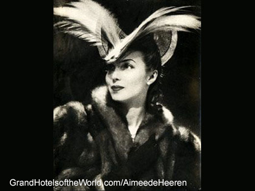 Aimée de Heeren was a guest of the Meurice for almost 70 years.