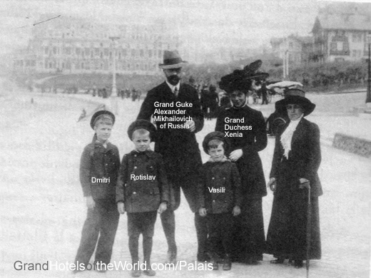 Grand Duke Alexander Mikhailovich of Russia with his wife Grand Duchess Xenia and his younges sons Dmitri, Rotislav and Vasil in 1910