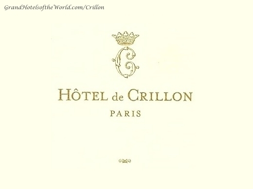 Hotel de Crillon in Paris - Logo