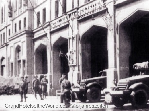 Hotel Vier Jahreszeiten in 1946, requisioned by the US Army